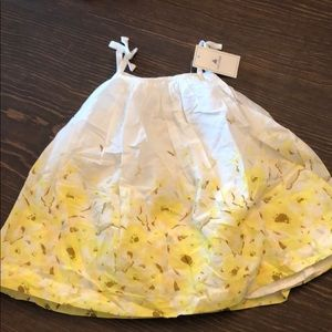 Baby gap yellow floral spring Easter sun dress